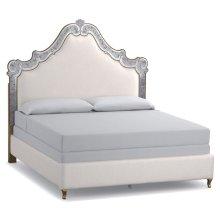 Bedroom Swirl King Venetian Upholstered Bed
