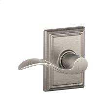 Accent Lever with Addison trim Hall & Closet Lock - Satin Nickel