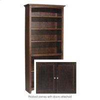 "CAF 72""H x 30""W McKenzie Alder Bookcase w/doors Product Image"