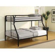 Morgan Twin-over-full Black Bunk Bed