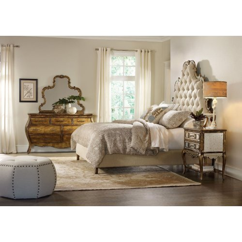 Bedroom Sanctuary Queen Tufted Headboard - Bling