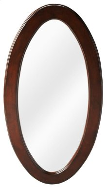 Cherry finish over cherry veneers and wood products frame. This wall mirror is a fine reflection on you. Ideal for hallway or boudoir, try it in pairs on a long wall. Perfect!