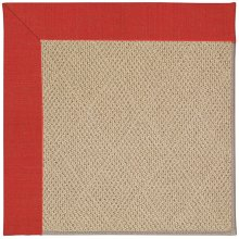 Creative Concepts-Cane Wicker Dupione Crimson Machine Tufted Rugs