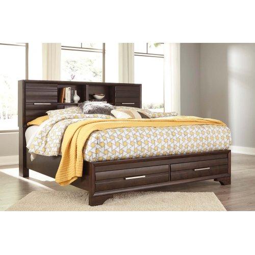 Andriel - Dark Brown 2 Piece Bed Set (Cal King)