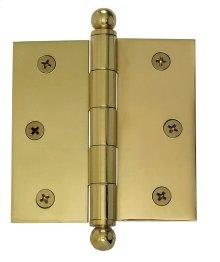 Nostalgic Warehouse - Medium Ball Tipped Hinge in Polished Brass