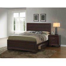 Fenbrook Transitional Dark Cocoa California King Bed