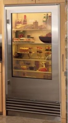 Carbon Stainless 601RG Glass Door