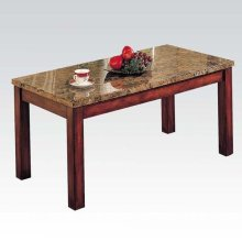 MARBLE TOP WPPD LEG COFFEE TBL