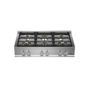 "Bertazzoni36"" Gas Rangetop 6 Brass Burners"
