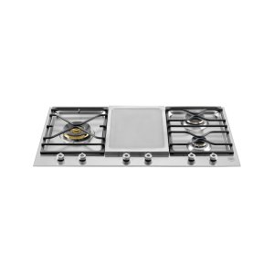 Bertazzoni36 Segmented cooktop 3-burner and griddle Stainless Steel