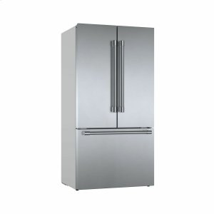 Bosch800 Series French Door Bottom Mount Refrigerator 36'' Easy clean stainless steel B36CT81SNS