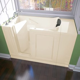 Luxury Series 28x48-inch Left Drain Walk-in Bathtub Whirlpool with Tub Faucet  American Standard - Linen