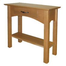 Chairside Table with Drawer and Shelf