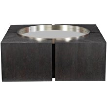 Decorage Square Cocktail Table in Cerused Mink (380)