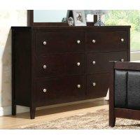 Carlton Cappuccino Six-drawer Dresser Product Image