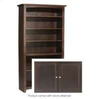 "CAF 72""H x 36""W McKenzie Alder Bookcase w/doors Product Image"