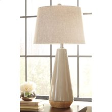Ceramic Table Lamp (1/CN) Sheray - Taupe Collection Ashley at Aztec Distribution Center Houston Texas