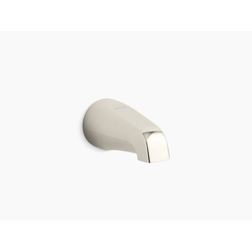 """Vibrant Polished Nickel 4-7/16"""" Non-diverter Spout With Slip-fit Connection"""