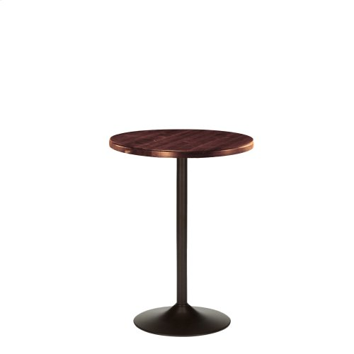 "45"" Brookside Pub Table with Wooden 24"" Round Top, Cherry Wood Finish"