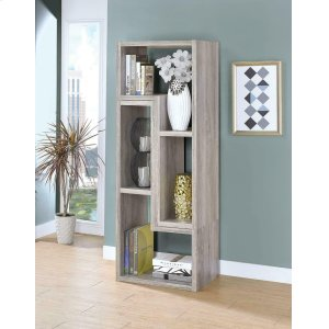 CoasterContemporary Grey Driftwood Convertible TV Stand and Bookcase