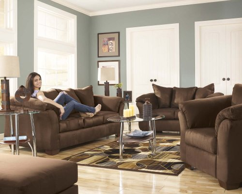 Ashley Sofa & Love Seat Package - Darcy - Cafe