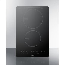 120v Built-in Induction Cooktop In Black With Schott Ceran Glass and 7-piece Set of Induction Cookware