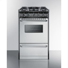 """20"""" Wide Slide-in Gas Range With Stainless Steel Doors and Sealed Burners; Replaces Tnm11027bfrwy"""