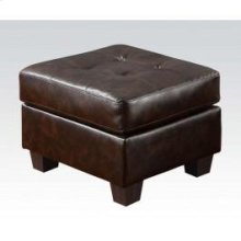 Brown Bonded Leather Ottoman
