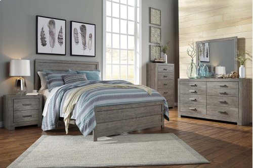 Queen Culverbach Panel  Bed w/Rails
