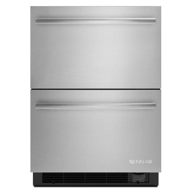 "Jenn-Air Euro-Style 24"" Refrigerator/Freezer Drawers Stainless Steel"