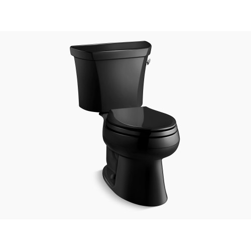 Black Black Classic Two-piece Elongated 1.0 Gpf Toilet With Pressure Lite Flush Technology and Tank Cover Locks, Less Seat