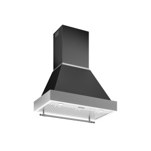 Bertazzoni36 Wallmount Canopy and Base Hood, 1 motor 600 CFM Nero Matt