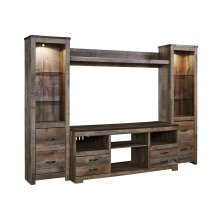 Trinell - Brown 4 Piece Entertainment Set