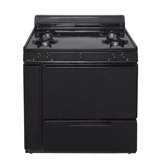 Premier 36 in. Freestanding Gas Range in Black