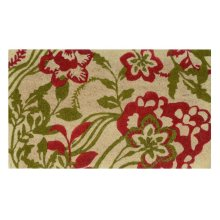 Doormat Agnes Red/Green 18x30