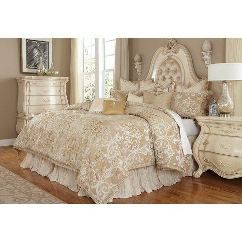 13 Pc.King Comforter Set Creme