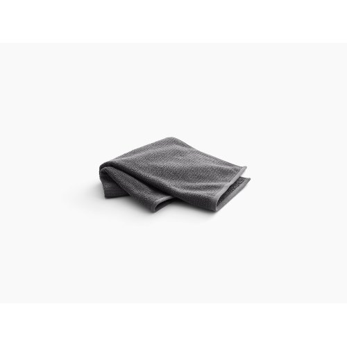 "Thunder Grey Hand Towel With Textured Weave, 18"" X 30"""