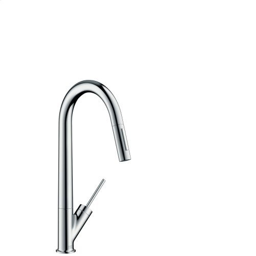 Brushed Red Gold Single lever kitchen mixer 270 with pull-out spray