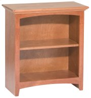 "GAC 29""H x 24""W McKenzie Alder Bookcase in Antique Cherry Finish Product Image"