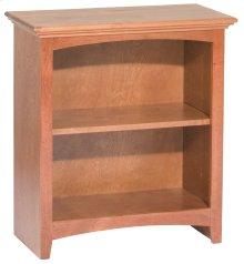 """GAC 29""""H x 24""""W McKenzie Alder Bookcase in Antique Cherry Finish"""