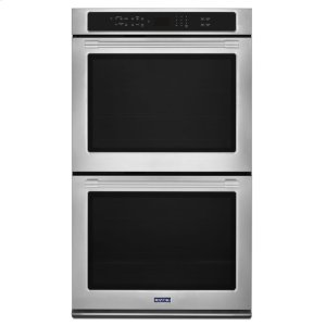 Maytag27-Inch Wide Double Wall Oven With True Convection - 8.6 Cu. Ft.