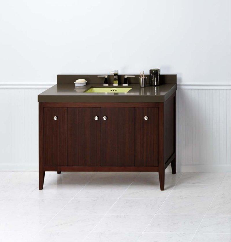 Sophie 48 Bathroom Vanity Cabinet Base In American Walnut