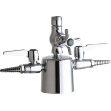 Deck-mounted triple service combination valve
