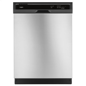 WhirlpoolHeavy-Duty Dishwasher with 1-Hour Wash Cycle Stainless Steel