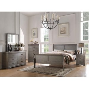 LOUIS PHILIPPE GRAY FULL BED