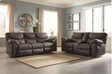 3380388 Grey PWR Reclining Sofa and Loveseat (Boxberg Teak)