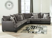 Millingar - Smoke 3 Piece Sectional