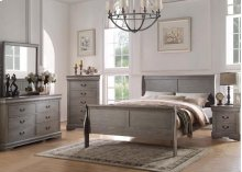 Louis Philippe Gray Twin 4pc Bedroom Set