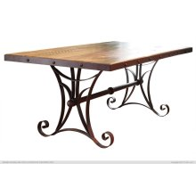 """79"""" Dining Table w/Iron Base - KD System"""