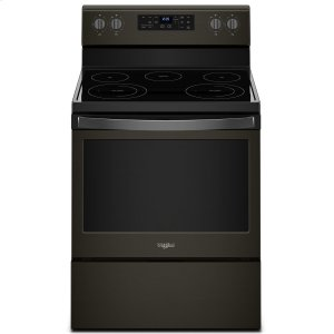 Whirlpool5.3 cu. ft. Freestanding Electric Range with Frozen Bake Technology Black Stainless